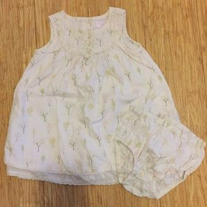 Janie and Jack dress with diaper cover